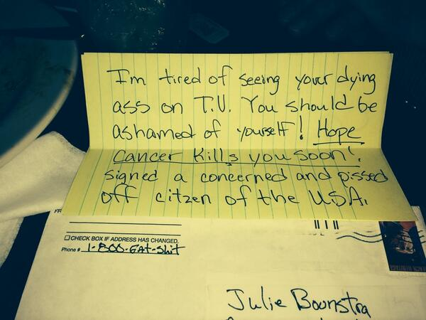 Julie Boonstra Hate Mail