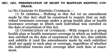 SEC 1251. PRESERVATION OF RIGHT TO MAINTAIN EXISTING COVERAGE.